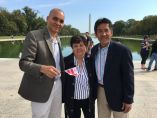 Three iconic Hispanic leaders on the Mall - Latino Democrats from Fairfax recently organized a rally for Hillary Clinton on the Mall in front of the Lincoln Memorial. The 3 most exceptional Hispanic leaders, DC's Franklin Garcia, Maryland's Ana Sol Gutierrez and Arlington's Walter Tejada posed for this historic photo at the time.