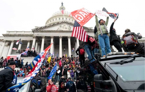 Insurrection at the US Capitol, Jan. 6, 2021.